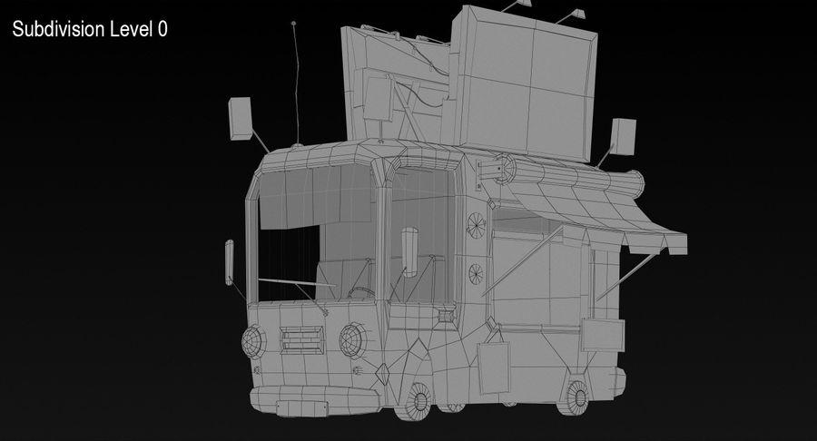 Cartoon Burger Bus royalty-free 3d model - Preview no. 11