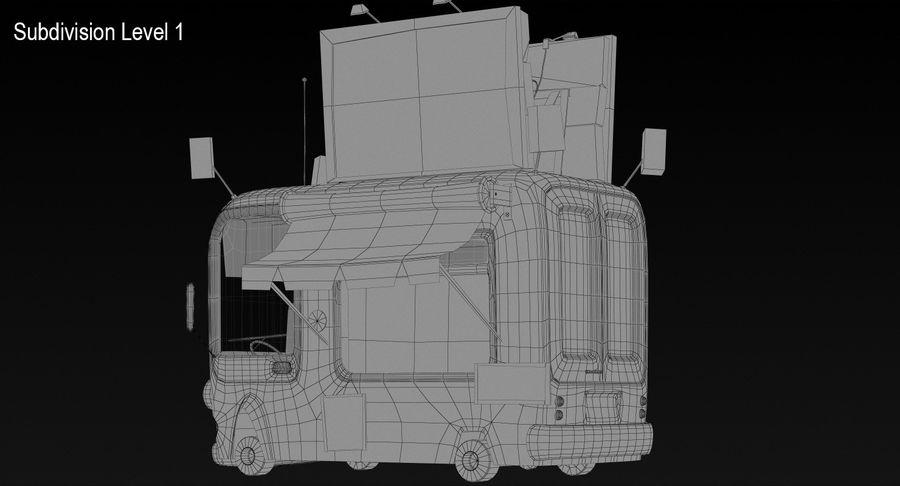 Cartoon Burger Bus royalty-free 3d model - Preview no. 14
