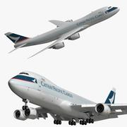 Boeing 747 8F Cathay Pacific Cargo 3d model
