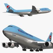 Cargo aereo coreano Boeing 747 8F 3d model