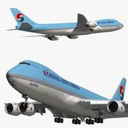 Boeing 747 8F Korean Air Cargo 3d model