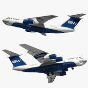 Companhias Aéreas de Ilyushin Il-76 Silkway 3d model