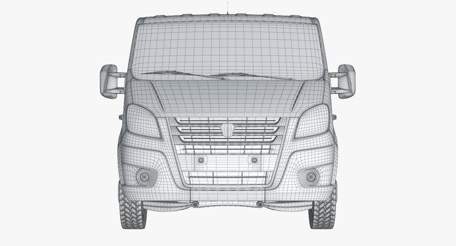 Gazzele Drop Side Truck royalty-free 3d model - Preview no. 16