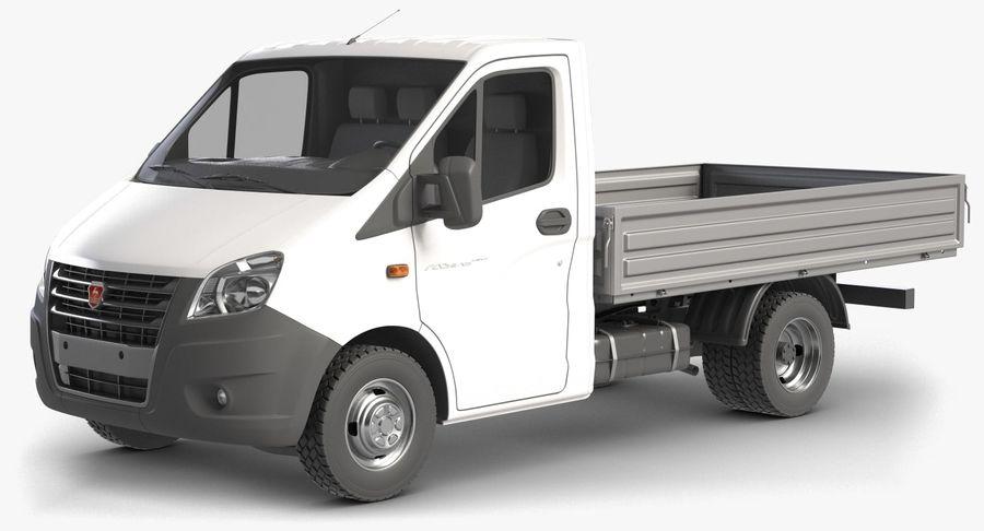 Gazzele Drop Side Truck royalty-free 3d model - Preview no. 5