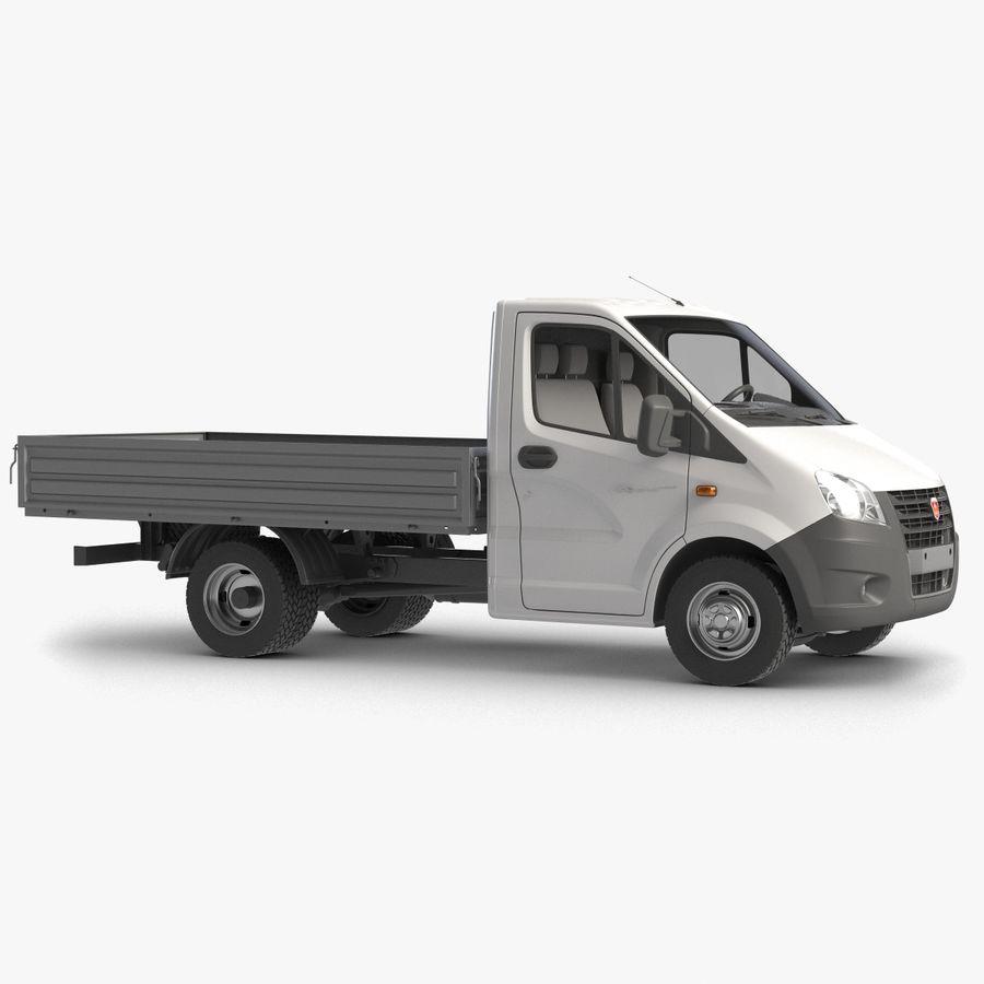 Gazzele Drop Side Truck royalty-free 3d model - Preview no. 1