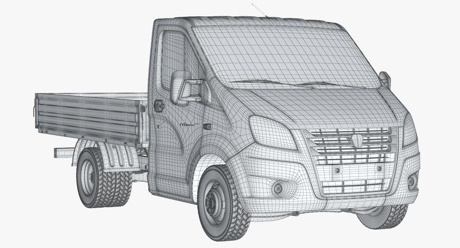 Gazzele Drop Side Truck royalty-free 3d model - Preview no. 14