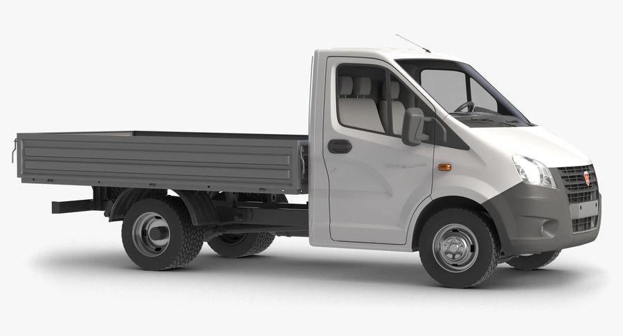 Gazzele Drop Side Truck royalty-free 3d model - Preview no. 2