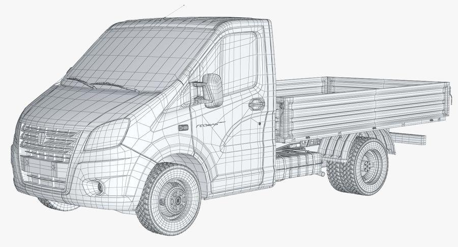 Gazzele Drop Side Truck royalty-free 3d model - Preview no. 17