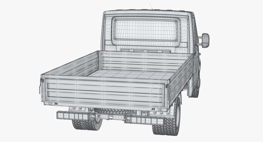 Gazzele Drop Side Truck royalty-free 3d model - Preview no. 26