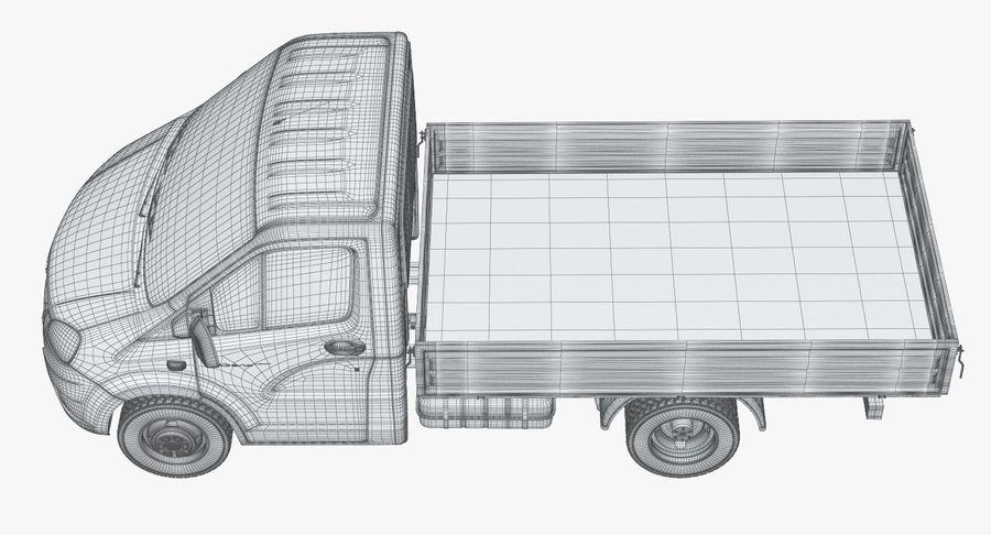 Gazzele Drop Side Truck royalty-free 3d model - Preview no. 22