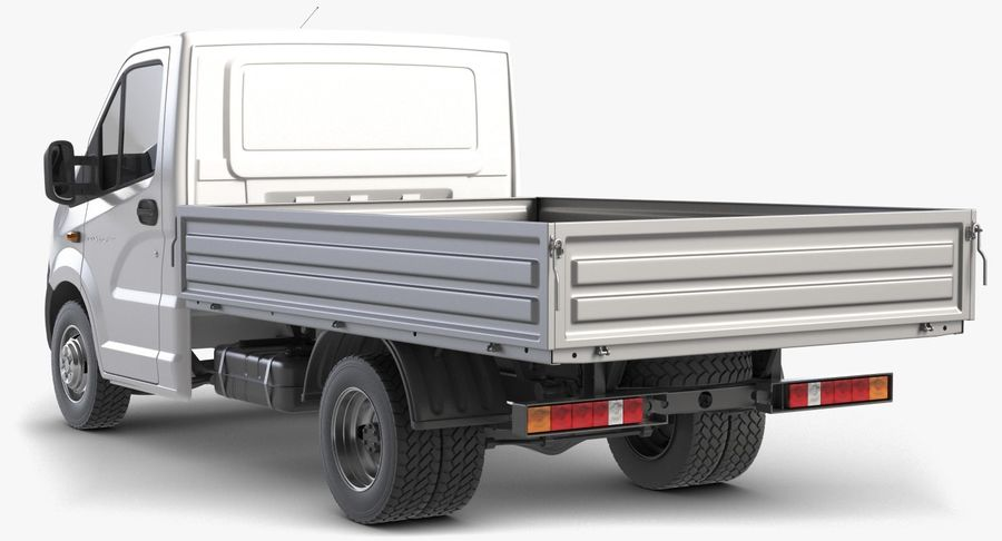 Gazzele Drop Side Truck royalty-free 3d model - Preview no. 8