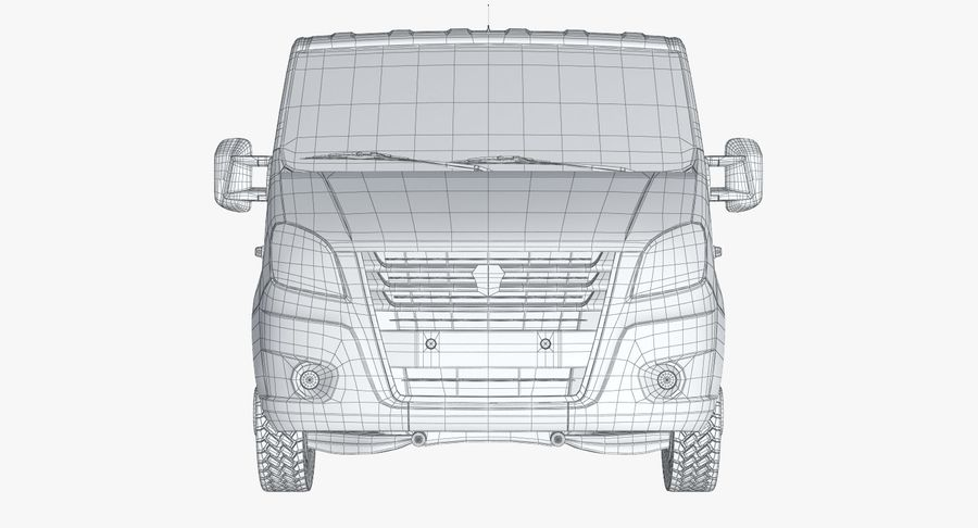 Gazzele Drop Side Truck royalty-free 3d model - Preview no. 15