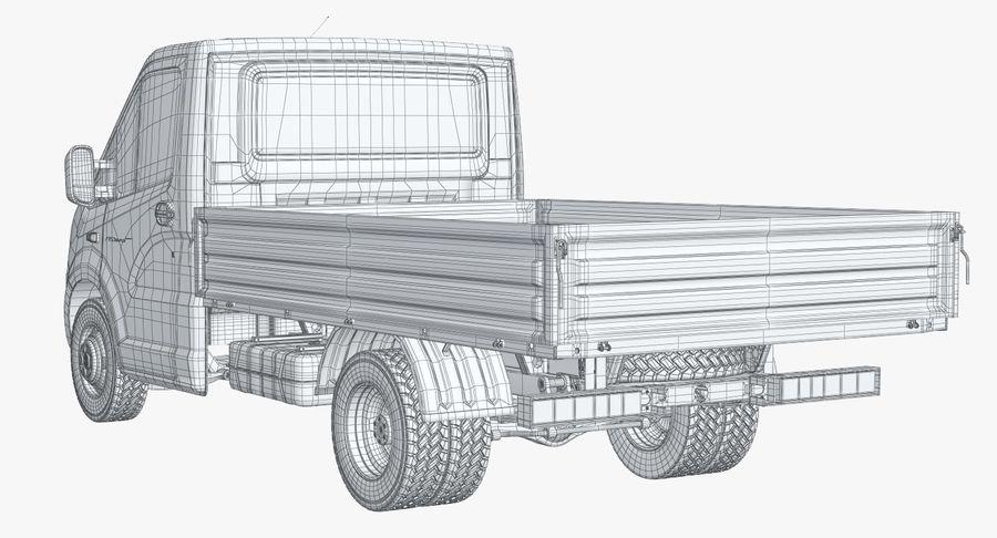 Gazzele Drop Side Truck royalty-free 3d model - Preview no. 23