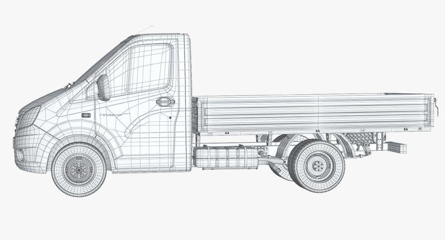 Gazzele Drop Side Truck royalty-free 3d model - Preview no. 19