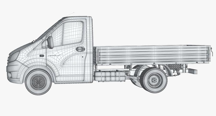 Gazzele Drop Side Truck royalty-free 3d model - Preview no. 20