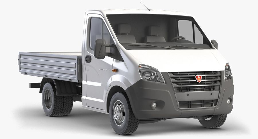 Gazzele Drop Side Truck royalty-free 3d model - Preview no. 3