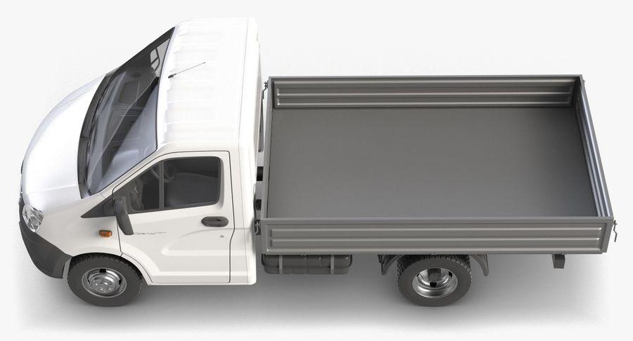 Gazzele Drop Side Truck royalty-free 3d model - Preview no. 7