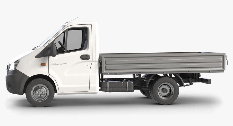 Gazzele Drop Side Truck royalty-free 3d model - Preview no. 6