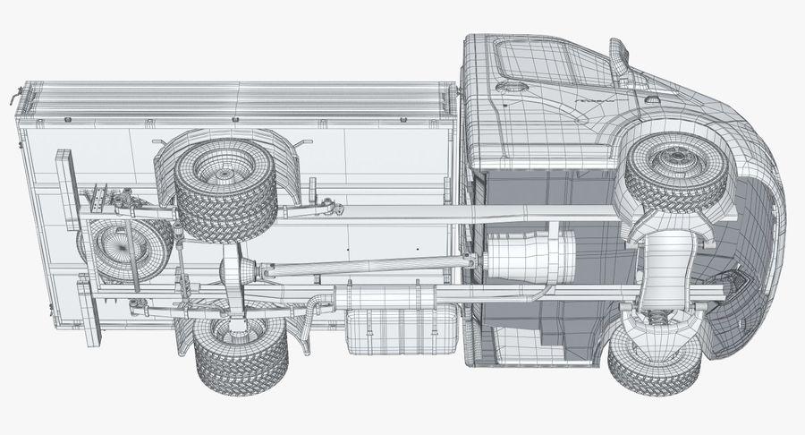 Gazzele Drop Side Truck royalty-free 3d model - Preview no. 27
