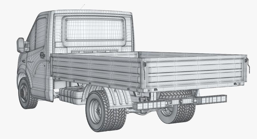 Gazzele Drop Side Truck royalty-free 3d model - Preview no. 24