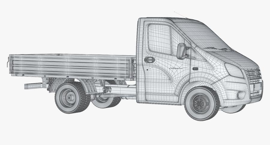 Gazzele Drop Side Truck royalty-free 3d model - Preview no. 12