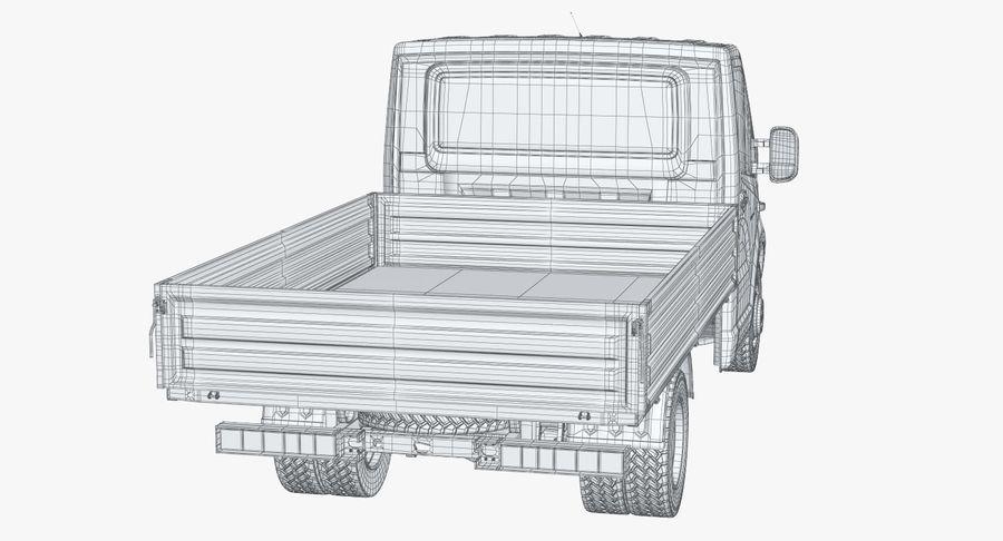 Gazzele Drop Side Truck royalty-free 3d model - Preview no. 25
