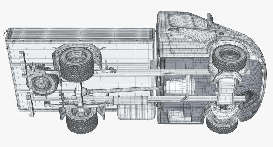 Gazzele Drop Side Truck royalty-free 3d model - Preview no. 28