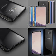 Samsung Galaxy S8 and S8 Plus All available colors 3d model