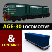 Alter 30 Lokomotive 3d model