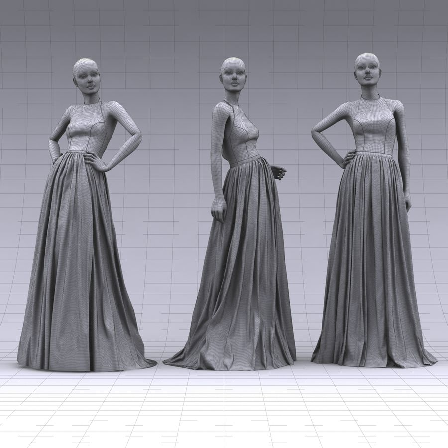 SHERRI HILL 51021 royalty-free 3d model - Preview no. 12