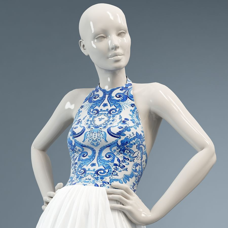 SHERRI HILL 51021 royalty-free 3d model - Preview no. 13