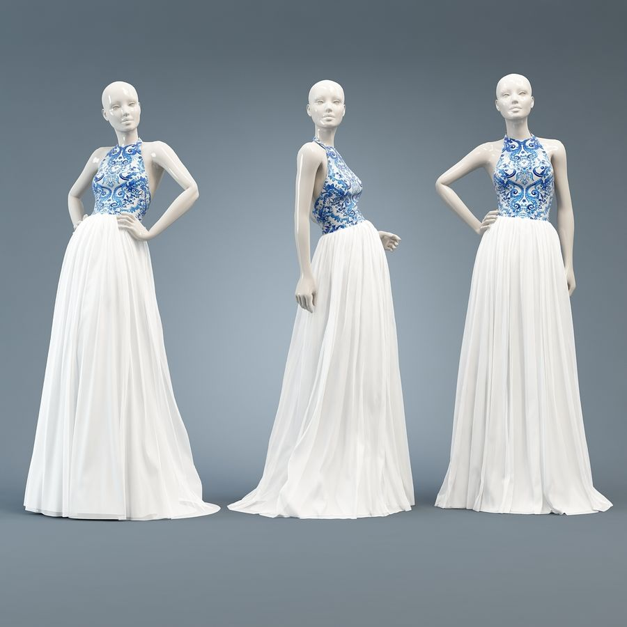 SHERRI HILL 51021 royalty-free 3d model - Preview no. 10