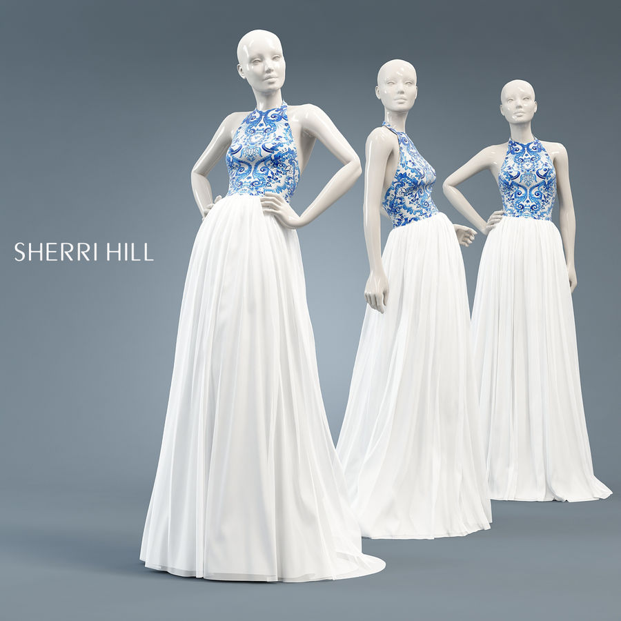 SHERRI HILL 51021 royalty-free 3d model - Preview no. 1