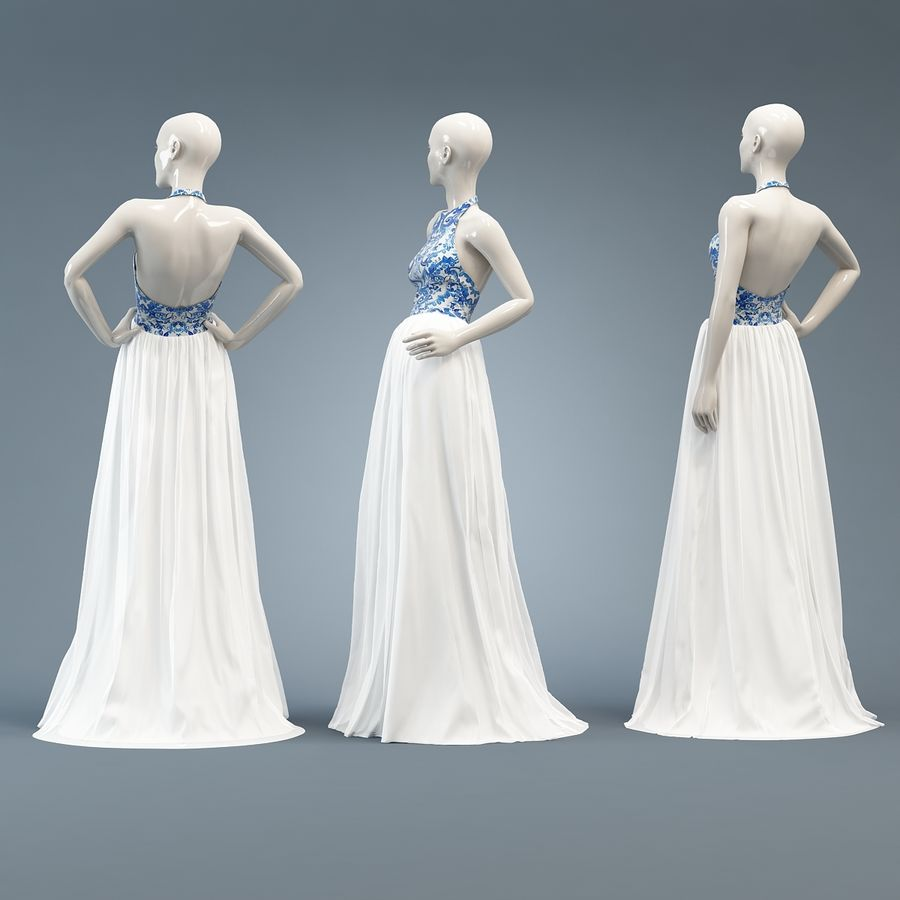 SHERRI HILL 51021 royalty-free 3d model - Preview no. 7