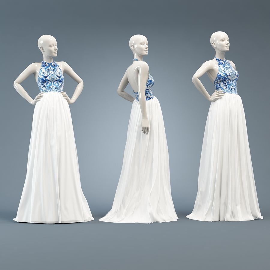 SHERRI HILL 51021 royalty-free 3d model - Preview no. 3