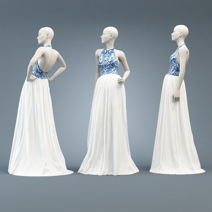 SHERRI HILL 51021 royalty-free 3d model - Preview no. 8