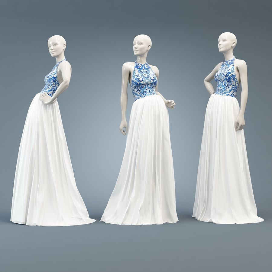 SHERRI HILL 51021 royalty-free 3d model - Preview no. 9