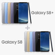 Samsung Galaxy S8 and S8 Plus All Colors 3d model