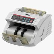 請求書とお金のカウンター 3d model