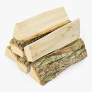 Bundel van brandhout 01 3d model