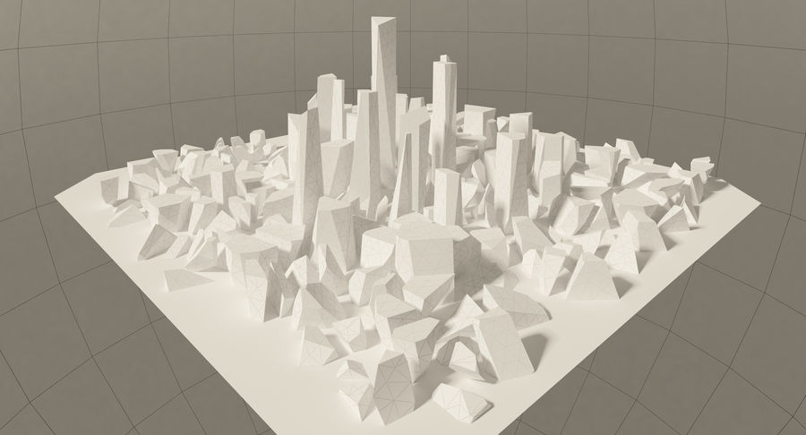 Ciudad del futuro royalty-free modelo 3d - Preview no. 20