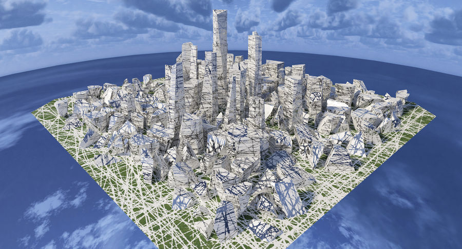 Ciudad del futuro royalty-free modelo 3d - Preview no. 1