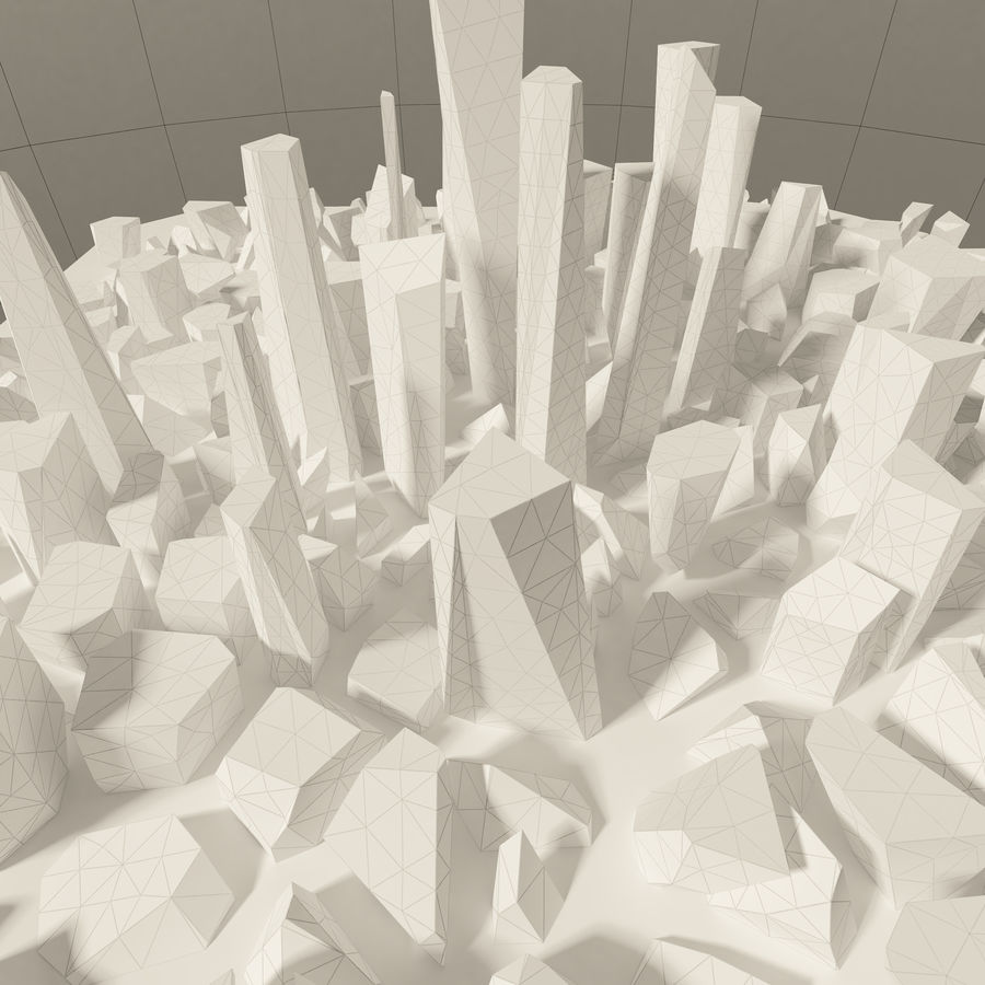 Ciudad del futuro royalty-free modelo 3d - Preview no. 33