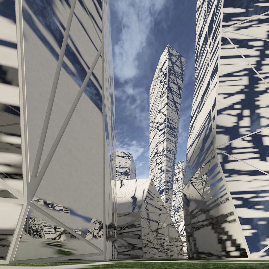 Ciudad del futuro royalty-free modelo 3d - Preview no. 14
