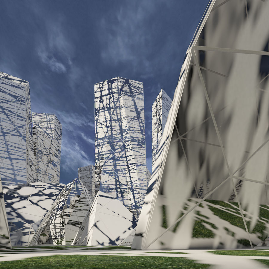 Ciudad del futuro royalty-free modelo 3d - Preview no. 17