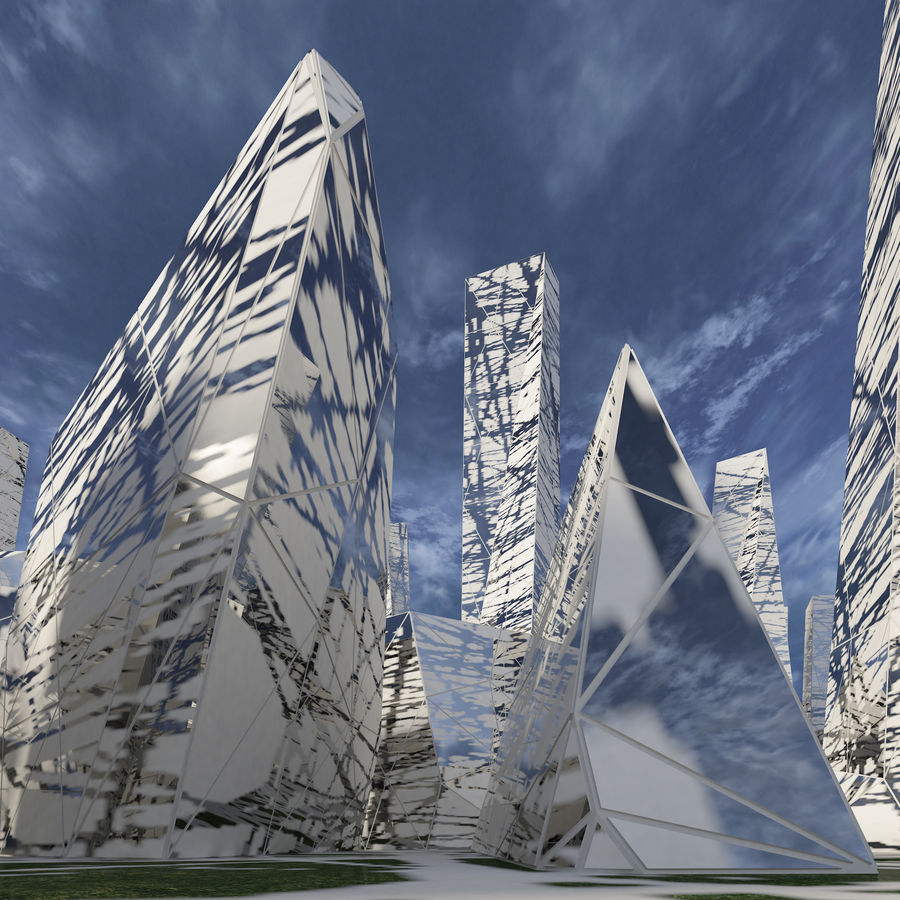 Ciudad del futuro royalty-free modelo 3d - Preview no. 11