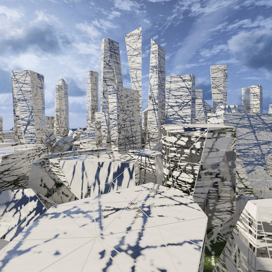 Ciudad del futuro royalty-free modelo 3d - Preview no. 8