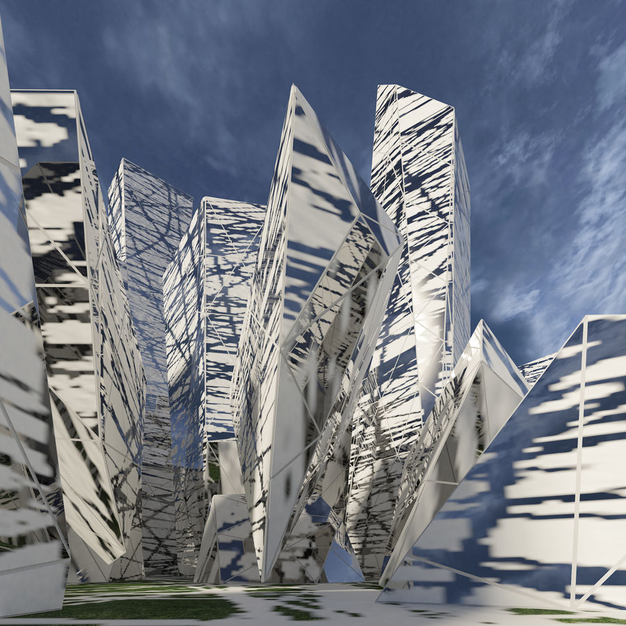 Ciudad del futuro royalty-free modelo 3d - Preview no. 7