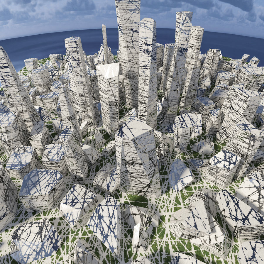 Ciudad del futuro royalty-free modelo 3d - Preview no. 4
