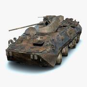 BTR-80A Burnt 3d model